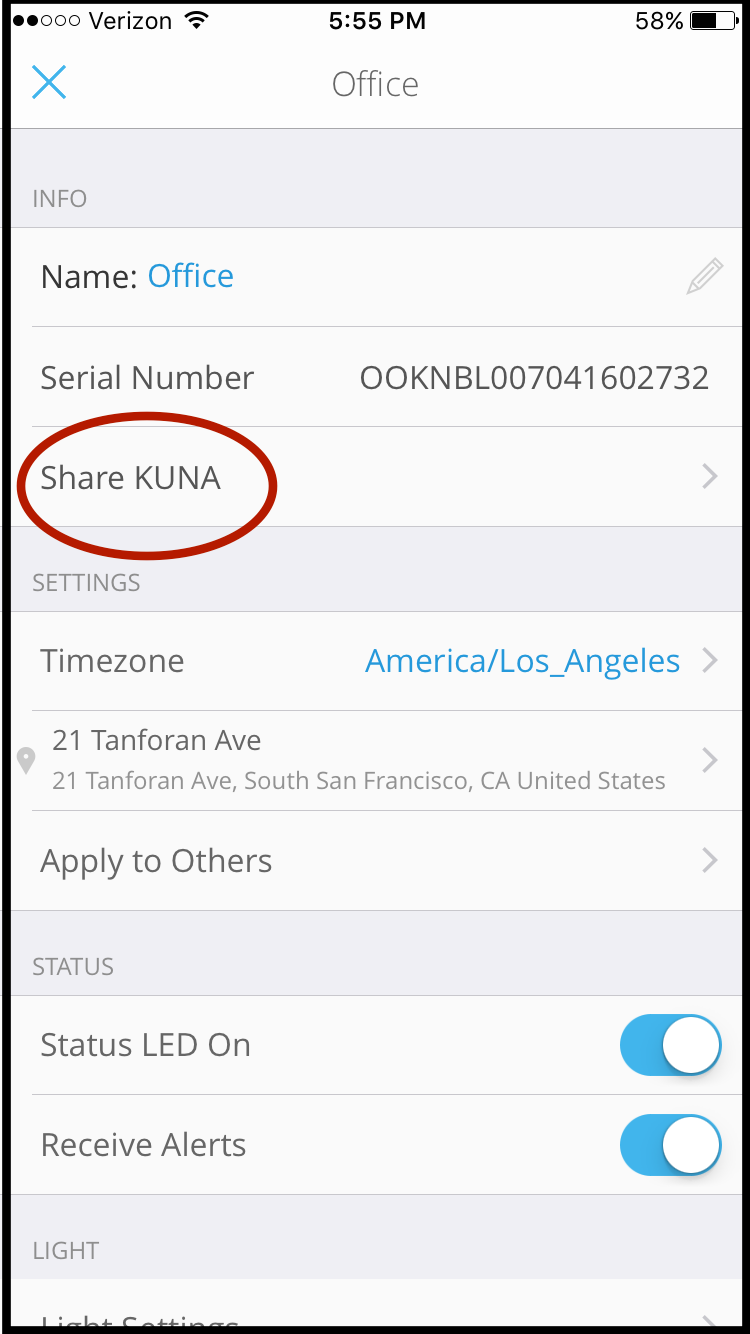 Removing Shared Camera Access – Kuna Help Center